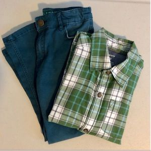 Pants+shirt for boys size 4-5Y